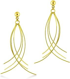 Valentine\u2019s Earrings Polka Dot /& Metallic Gold Layered Leather Earrings