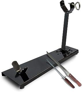 BRICOMIRAS JAMONERO Modelo Plegable Negro Ideal para EL HOGAR Regalo Cuchillo + CHAIRA Soporte JAMONERO