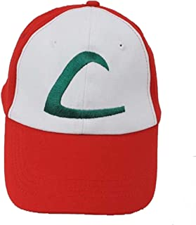 4c2e580a89a Pokemon Ash Ketchum Baseball Snapback Cap Trainer Hat for Adult  Embroidered