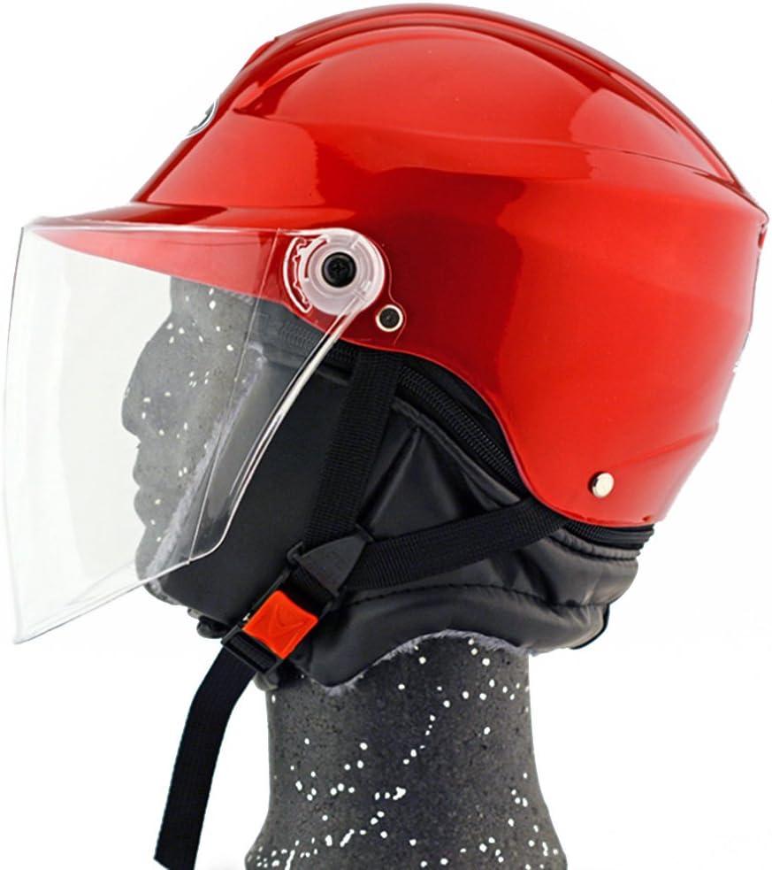 Moto Moto Scooter Moto Cyclomoteur Vélo électrique automobile Tête travail protection sécurité bedeckung Helmet Chapeau d'hiver 301–1Rouge