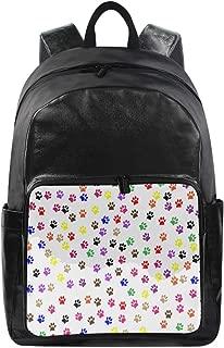 Laptop Backpack Dog Paw Print School Back Pack Rucksack Daypack for Women Men