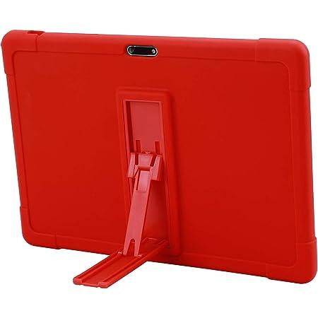 Silicone Antichoc L/éger Housse de Protection avec Support Stand pour VANKYO MatrixPad S10 Rouge RLTech Coque pour VANKYO MatrixPad S10