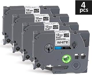 Compatibile per Brother P-touch PT-D210VP PT-H101C PT-1010 PT-P750W PT-H100P PT-D450 PT-D600VP 6x Xemax P-touch Tze 0.47 12mm x 8m Tze-131 Tze-231 Tze-431 Tze-531 Tze-631 Tze-731 Etichette Cassetta