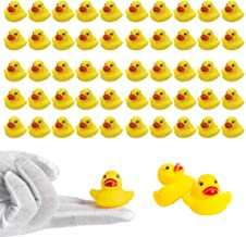 WAYEES Tiny Duck Slime Charms Beads Set Craft Duckie Fairy Garden Miniature Easter Display Ducklings Themed Baby Shower Bath Bombs Charms Decorations Classroom Motivators Scrapbooking DIY Ornament