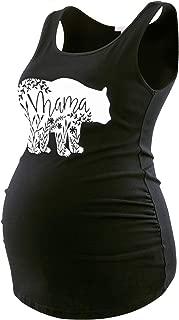 Maternity Tank Tops for Women Ruched Sleeveless Basic Tops Maternity Shirt Vest Pregnancy Tee
