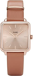 CLUSE Women's Quartz Watch with Leather Strap, Brown, 16 (Model: CL60010)