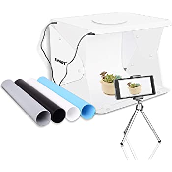 LimoStudio 24 Black LED Lighting Cube Box Table Top Photo Shooting Tent for Product with Camera Stand Tripod