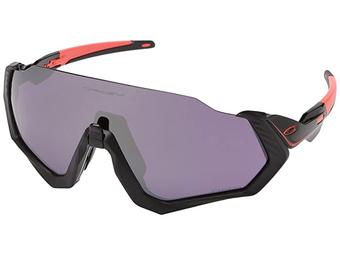 Oakley  37mm Flight Jackettm (Ignite with PRIZM Road Black) Fashion Sunglasses