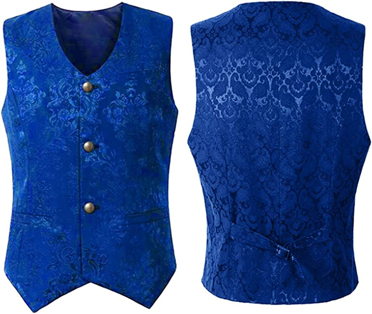 Max 65% OFF Men's Jacquard Single-Breasted Ranking TOP3 Vest Tuxedo Steampunk Gothic