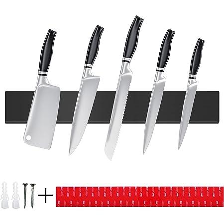 TWBEST Barre Magnétique pour Couteaux,40cm Porte-Couteau Magnétique en Acier Inoxydable,Porte Couteaux Magnétique,Barre à Couteaux aimantée,pour Les Couteaux Ustensiles de Cuisine, et Outils