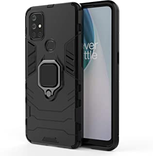 UEKING Case For OnePlus Nord N10 5G, Rugged Shockproof, With Car Holder, Cover For OnePlus Nord N10 5G (black)