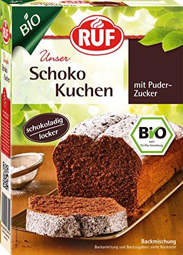 RUF Bio Schokokuchen • schokoladig locker • mit Puderzucker, 4er Pack (4 x 410 g)