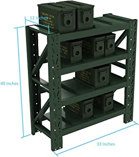 Ammo Can Storage LLC Ammo Can Storage System (4-Shelf), Olive Drab