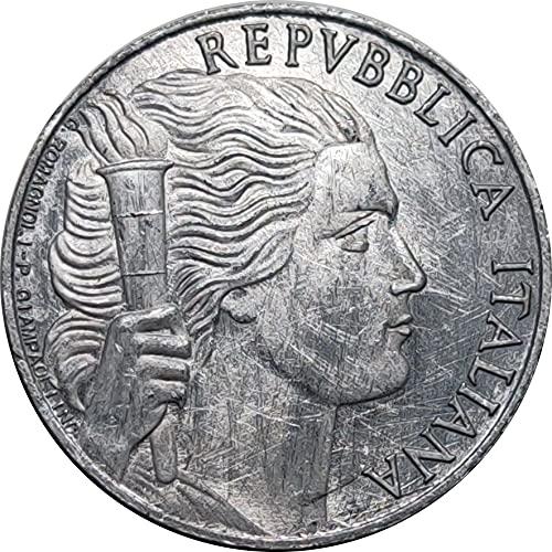 COPIA moneta REPUBBLICA ITALIANA 5 lire 1947 grappolo UVA libertà fiamma 2.7cm
