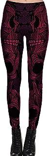 YACUN 女性のプリントスポーツヨガレギンス伸縮性のあるスキニーデニムアンクルパンツ