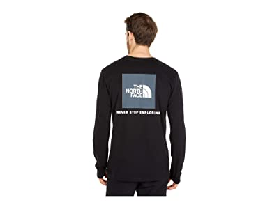 The North Face Box Nse Long Sleeve Tee (TNF Black) Men