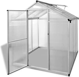 Festnight Invernadero Estructura de Aluminio Paneles de Policarbonato 302 x 250 x 195 cm