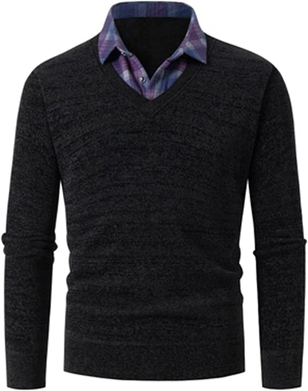 QZH.DUAO Men's Casual Large special price Slim Knitted Pullover Max 54% OFF Sweaters Fit