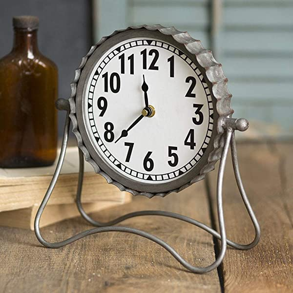 CTW Home Collection Industrial Desk Clock