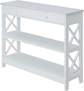 Best Convenience Concepts Oxford 1 Drawer Console Table, White Review