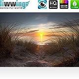 Türtapete selbstklebend 100×211 cm PREMIUM PLUS Tür Fototapete Türposter Türpanel Foto Tapete Bild – NORTH SEA SUNSET – Strand Meer Nordsee Ostsee Beach Wasser Blau Himmel Sonne Sommer – no. 074 - 7