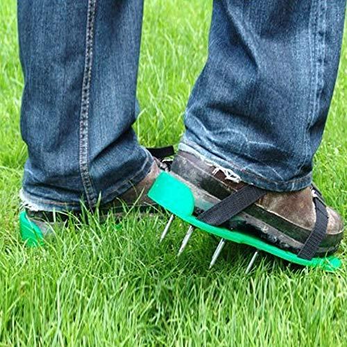 Redxiao 【𝐑𝐞𝐠𝐚𝐥𝐨】 Correas y Hebillas Ajustables, Sandalias con Pinchos para airear el Suelo, Zapatos con aireador para césped, Sandalias con Pinchos de Hierro Macizo para césped