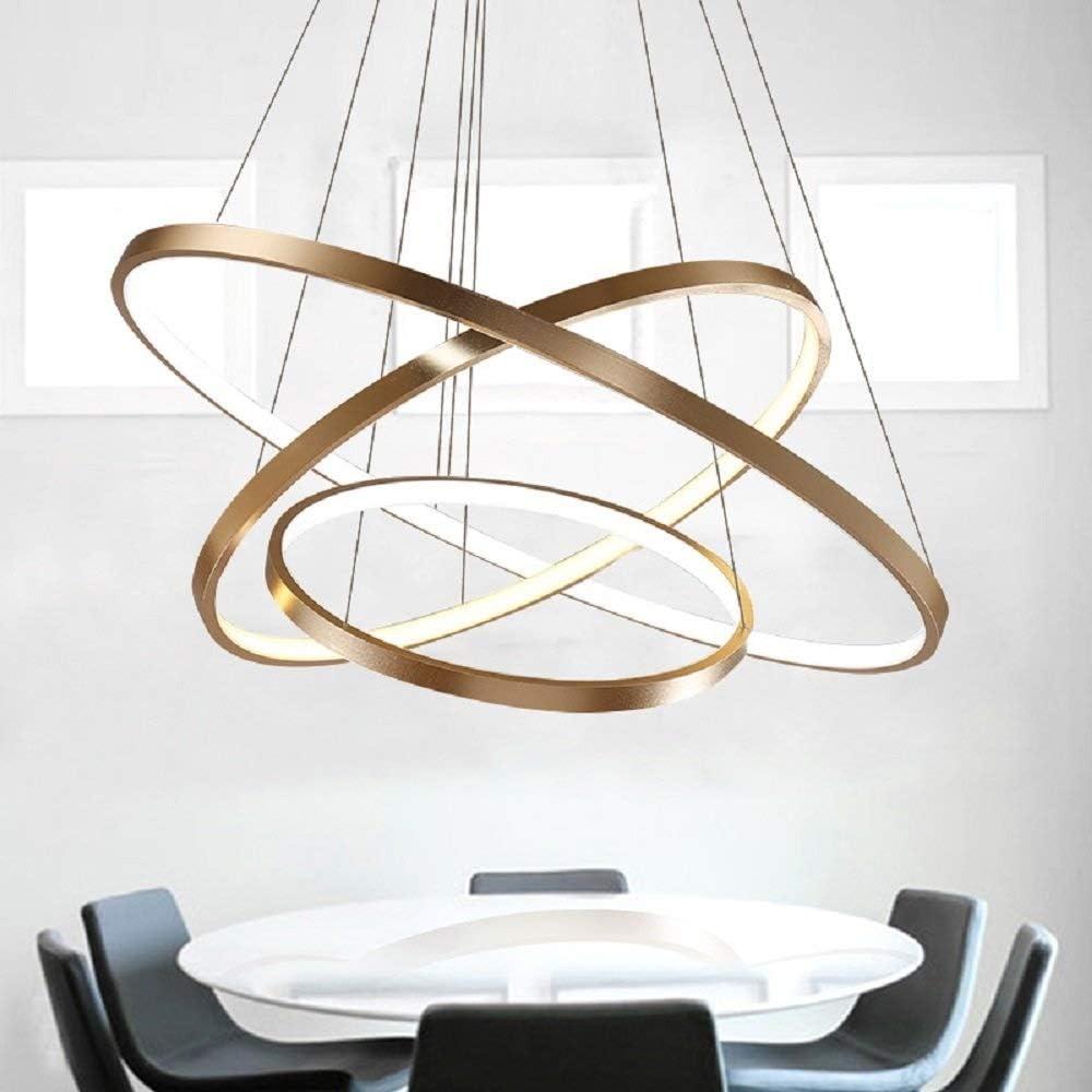 szkp lampadario a led moderna lampada a sospensione in acrilico tre anelli szkp0931