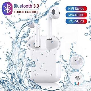 Auriculares Bluetooth 5.0, Auriculares Inalámbricos 156H Tiempo de Juego Bajo Profundo Hi-Fi Sonido Estéreo In-Ear Sport Auricular con micrófono, IPX5 Impermeable