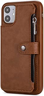 Stylish Cover Compatible with iPhone X, brown Leather Flip Case Wallet for iPhone X