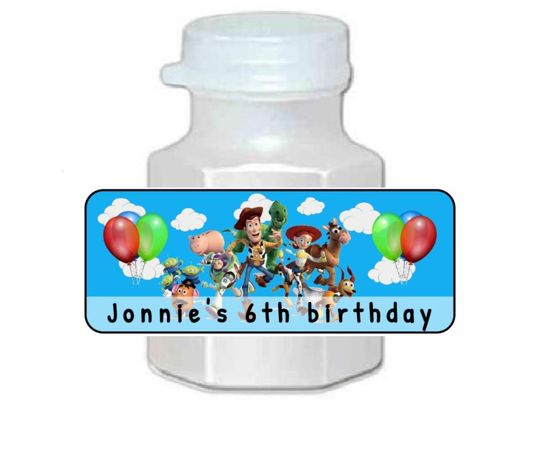30 Personalized Special price for a limited Mail order cheap time Mini Bubble Label party Toy t favors Story