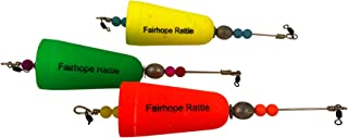 Fairhope Rattle Weighted Popping Cork Good for Saltwater or Freshwater Fishing -Pack of Three Floats