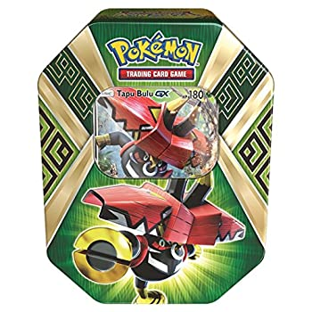 Pokemon TCG Sun & Moon Guardians Rising Collector s Tin Containing 4 Booster Packs and Featuring a Foil Tapu Bulu-GX