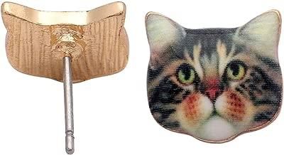 Tabby Cat Kitten Kitty Stud Earrings - Ginger Lyne Collection