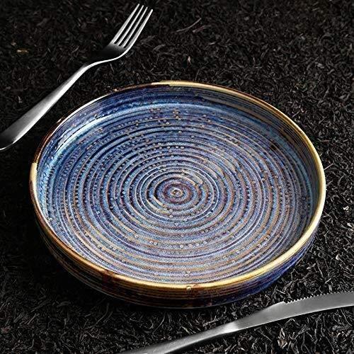 Plato de cerámica con diseño de personalidad creativa, cocina nórdica occidental, plato hondo de sopa, plato de fruta, hotel exclusivo (tamaño: 10 pulgadas 25,6 cm)