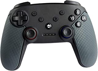 Wireless Bluetooth Game Controller for Nintendo Switch, Supports Gyroscope axis, Turbine and Dual Vibration. (Black)