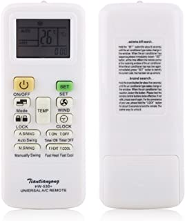 Universal Remote Control for Air Conditioner, Air Conditioner Remote Control Replacement for Gree Midea LG Brand Air Conditioning