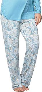 Cake Maternity Crème Brulee Soft Modal Long Maternity Pajama Pant, Paisley, Small
