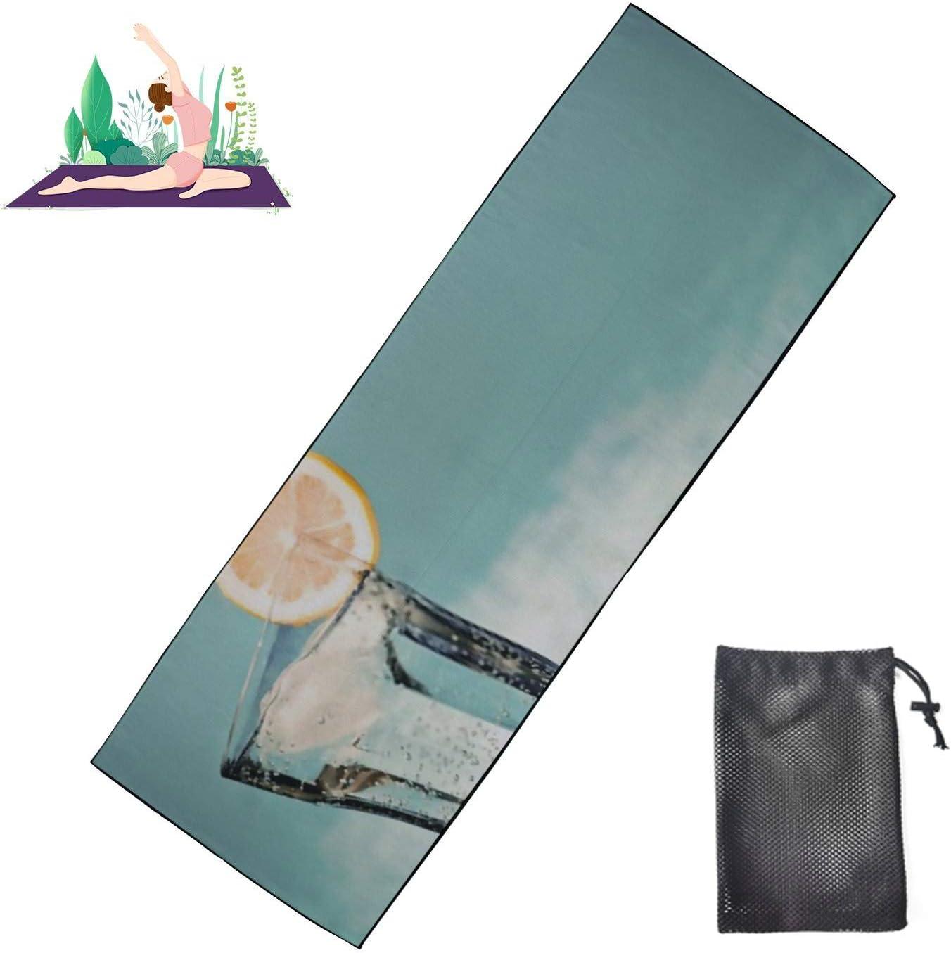HJSHG Yoga Fashionable Mat Towel Cold Drink Hot On Nons Lemon Ice Slice Trust