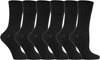 6 pares calcetines diabeticos mujer sin goma elastico estampados 37-42 eur