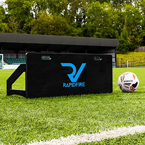 RapidFire Soccer Rebound Board | Soccer Passing Accuracy Training Aid | Soccer Rebounder | Soccer Training Equipment | Soccer Rebound Board for Passing & Shooting Practice (39in x 16in, Pair)