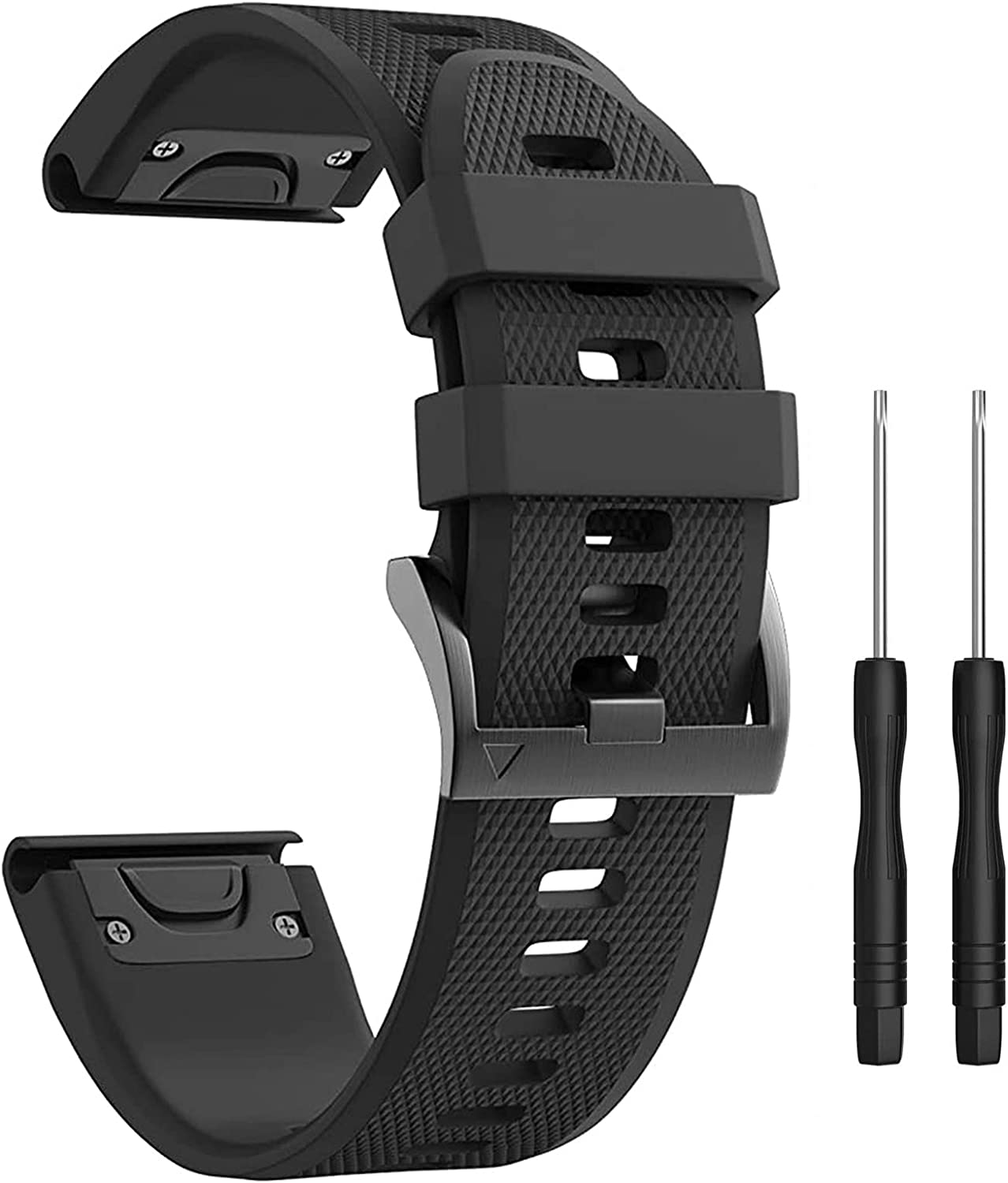 Watch Band Fenix 5X 26mm Width Compatible with Fenix 5X/Fenix 5XPlus/Fenix 6X Pro Silicone Band
