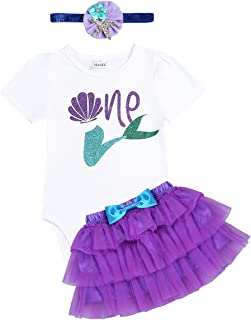 52c990f1e MSemis Vestido Princesa de Fiesta Disfraz de Sirena para Bebés Niñas Bodis  con Falda Tutu Manga
