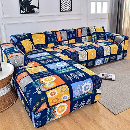 ASCV Fundas de sofá elásticas para Sala de Estar Funda de sofá elástica Sillón Slipcoverfunda sofá Chaise Lounge A2 2 plazas
