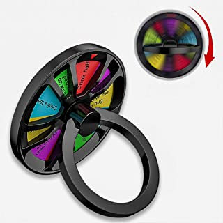 Phone Ring Stand Holder 360 Degree Rotating Anti-Anxiety Cell Phone Finger Spinner Ring Grip Kick Stand for iPhone/iPad/Samsung Note/Tablets etc (Pattern 4)