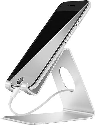 Lamicall Supporto Telefono, Dock Telefono : Universale Supporto Dock per Phone XS XS Max XR X 8 7 6 6S Plus 5 5S 4 4S, Huawei, Samsung S9 S8 S7 S6 S5 S4 S3, Scrivania, Altri Smartphone - Argento