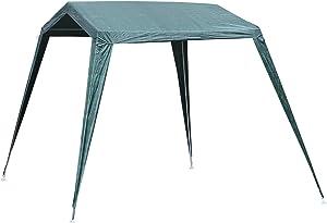 Outsunny Tonnelle Barnum de Jardin dim. 3,3L x 2,4l x 2,1H m métal époxy Toile PE Haute densité imperméabilisée Anti UV Vert
