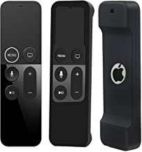Case Compatible with Apple TV 4K/ 4th Gen Remote Light Weight Anti-Slip Shock Proof Silicone Cover for Controller for Apple TV Siri Remote - Black