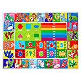 IMIKEYA Kids Play Rug Mat Playmat Kids Carpet 78.7 x 59 inch Playtime Collection ABC Alphabet, Numbers, Animals and Shapes Educational Learning Area Rug Carpet for Kids Children Baby Bedrooms Playroom