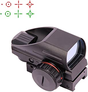 UUQ Tactical Holographic Red Green Reflex Scope Sight 4 Reticles