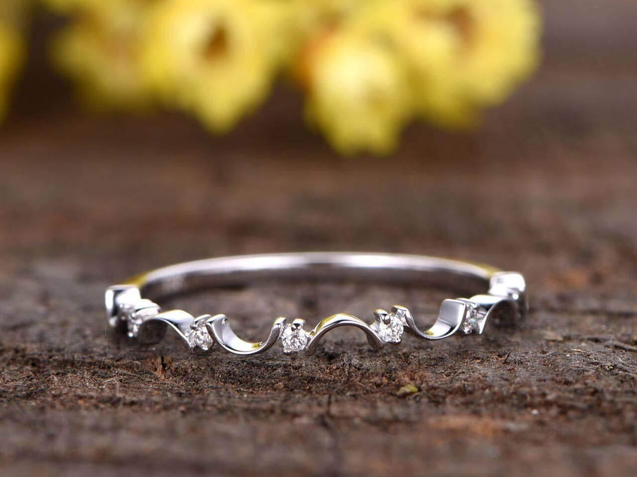 Ranking TOP4 0.25 Carat Fashionable Petite Diamond Half Wedding Eternity ring Engagement